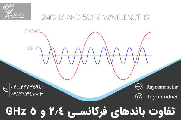 تفاوت باند های فرکانسی 2.4 و 5 گیگاهرتز