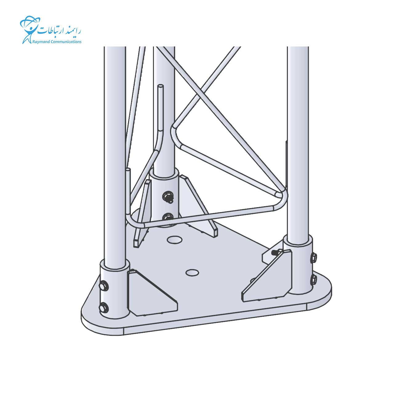 GUYED TOWER TETRAHEDRAL G35