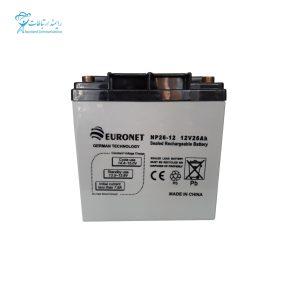 باتری یو پی اس 12ولت 26 آمپر یورونت NP26-12 12V 26Ah