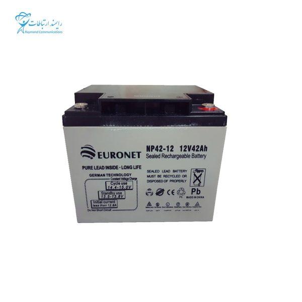 باتری یو پی اس 12ولت 42 آمپر یورونت NP42-12 12V 42Ah