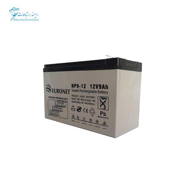 باتری یو پی اس 12ولت 9 آمپر یورونت NP9-12 12V 9Ah